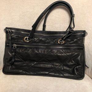 Lanvin Quilted Leather Shoulder Bag in Black